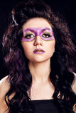 Model with fashion glitter make-up Royalty Free Stock Photography
