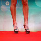 Model during fashion show Royalty Free Stock Photography