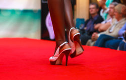 Model during fashion show Stock Photography