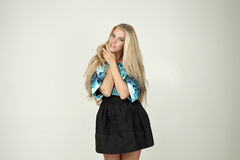 Model in a fashionable blouse Stock Photo