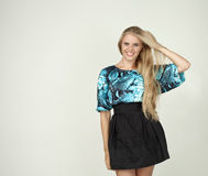 Model in a fashionable blouse Royalty Free Stock Photo