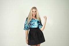 Model in a fashionable blouse Royalty Free Stock Photos