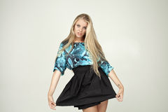 Model in a fashionable blouse Royalty Free Stock Photography