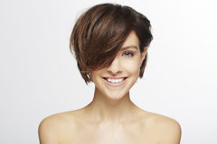 Model with fashionable hair Royalty Free Stock Photo