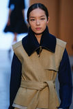 Model Fei Fei Sun walk the runway at the Derek Lam Fashion Show during MBFW Fall 2015 Stock Images