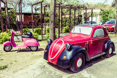 Model Of Fiat 500 Topolino Royalty Free Stock Photo