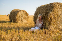 Model in the field Royalty Free Stock Photos