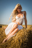 Model in the field Stock Photos