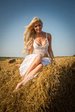 Model in the field Royalty Free Stock Photography