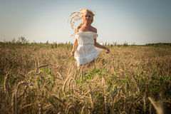 Model in the field Royalty Free Stock Images