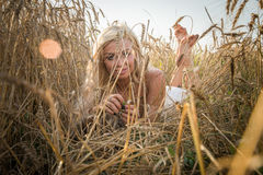 Model in the field Stock Images