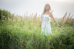 Model in the field Stock Photography