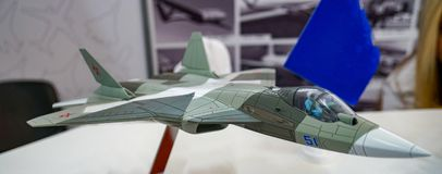 Model of aircraft Su-57 stock image