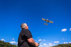 Model Flying Plane Pilot  Stock Photography
