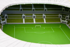 Model football stadium Royalty Free Stock Image