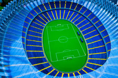 Model football stadium Royalty Free Stock Photos
