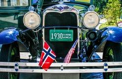 1930 Model A Ford. On display at a Gig Harbor, Washington car show.  22 May, 2010 Royalty Free Stock Images
