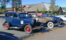Model A Ford in parking lot Royalty Free Stock Photo