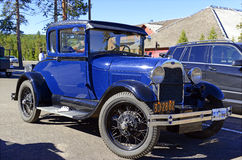 Model A Ford in parking lot Stock Photos