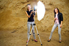 model fotograf för assistent royaltyfria foton