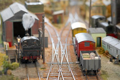 Model freight yard Stock Photos