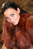 Model with fur. On location Stock Photography