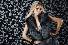 Model in fur Stock Photography