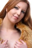 Model in fur scarf Stock Photography