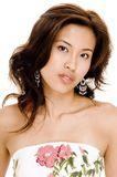 Model G7. A beautiful young asian woman on white background Stock Photography