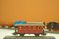 Model German Railroad Boxcar Royalty Free Stock Image