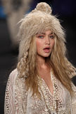 Model Gigi Hadid A model walks the runway at the Anna Sui fashion show during MBFW Fall 2015 Stock Image