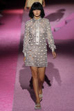 Model Gigi Hadid walk the runway at Marc Jacobs during Mercedes-Benz Fashion Week Spring 2015 Stock Photos