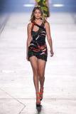 Model Gigi Hadid walks the runway during the Versace fashion show Royalty Free Stock Photography