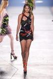 Model Gigi Hadid walks the runway during the Versace fashion show Royalty Free Stock Photo