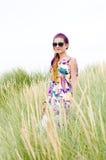 Model girl on the beach Royalty Free Stock Photos