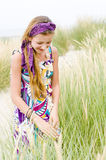 Model girl on the beach royalty free stock images