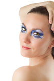 Model girl with creative glamour  blue makeup Stock Image
