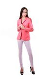 Model girl in pink Stock Images