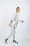 Model girl posing isolated on white background Stock Image