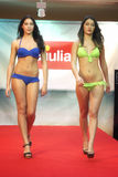 Model. Girls in bikini in a fashion show in Trieste Stock Photography