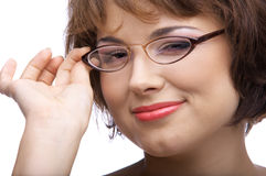 Model in glasses Royalty Free Stock Images