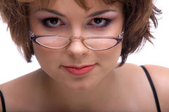 Model in glasses Royalty Free Stock Image