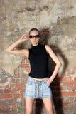 Model in glasses Royalty Free Stock Image