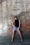 Model in glasses stock image