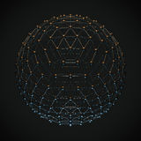Model of a global network, 3d illustration Stock Photos