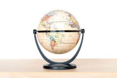 Model of the globe sitting on desk Royalty Free Stock Image