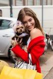 Model Grace Elisabeth posing at Milan Women`s Fashion Week Royalty Free Stock Photos