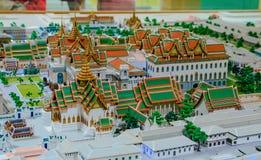 Model of Grand palace in bangkok, THAILAND Royalty Free Stock Photography