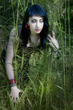 Model in Grass Royalty Free Stock Photo