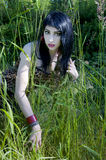 Model in Grass Royalty Free Stock Images